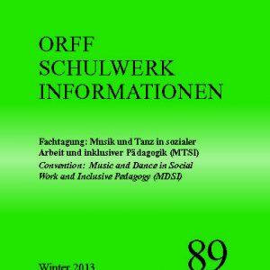 Orff Schulwerk Heute 89 winter 2013
