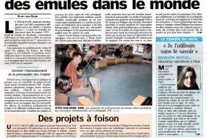 Journal Le Parisien - 6 juillet 2005