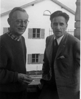 Carl Orff et Lucas Suppin Ammersee 1956