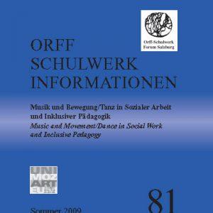 Orff Schulwerk Heute 81 sommer 2009