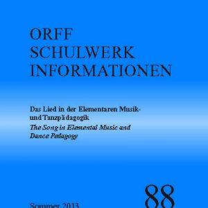 Orff Schulwerk Heute 88 sommer 2013